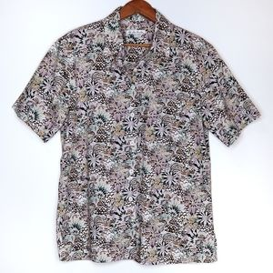 Tilley | Floral Short Sleeve Button Down Shirt
